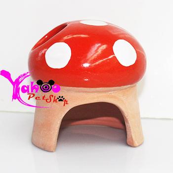 Nhà ngủ sứ hình nấm dành cho Hamster