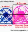Wheel nhựa tesoro hamster bear