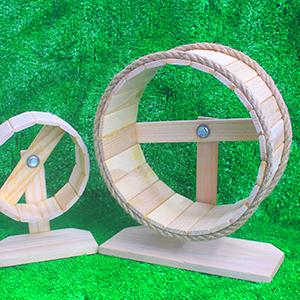 whell gỗ chạy cho nhím