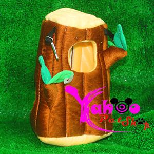 Túi ngủ lông hình khúc cây dành cho sóc