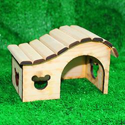 Nhà mái lượn gỗ hamster