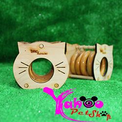 Nhà mèo ring gỗ cho hamster