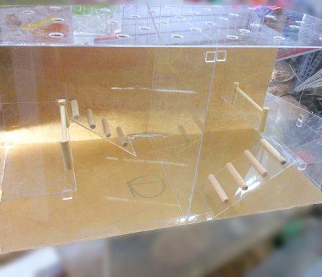 Chuồng mika 2 ngăn dành cho hamster