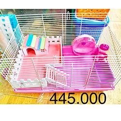 Chuồng cho hamster 1 tầng form hồng