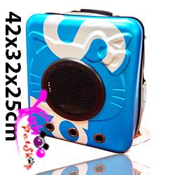Balo phi hành gia du lịch chó mèo xanh dương