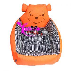 Nệm ngủ gấu Pooh cam cho chó mèo