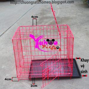 Chuồng sắt sơn tĩnh điện cho chó mèo