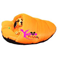 Giày lười chó mèo cam