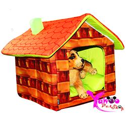 Nhà ngủ hình gỗ chó mèo
