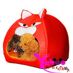 Nhà ngủ hình mèo đỏ chó mèo