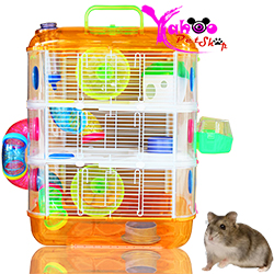Lồng hamster phi thuyền 3 tầng