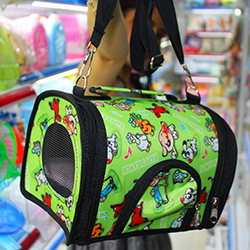 Túi du lịch cho sóc xanh lá có đệm
