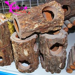 ống chui gỗ cho thú cưng