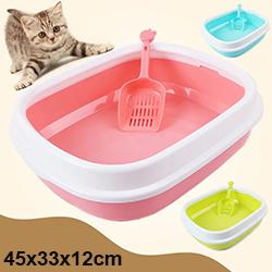 Khay vệ sinh cho mèo đế thấp