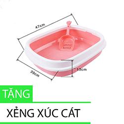 Thùng vệ sinh đại đế thấp cho mèo