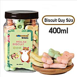 Bánh biscuit hộp hình xương hộp 400ml cho chó mèo