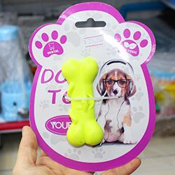 đồ chơi khúc xương nhựa trơn cho chó