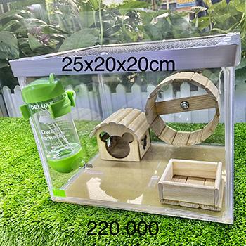 Chuồng Mika 25x20x20cm phụ kiện gỗ