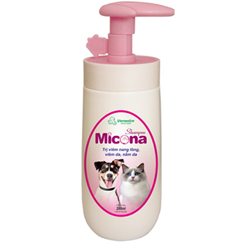 Sữa tắm Micona trị nấm da chó mèo